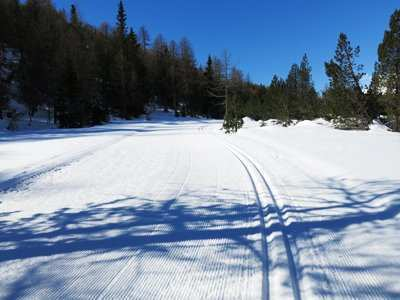 paradise for cross-country skiing and wonderful trails La Palza in Maloja