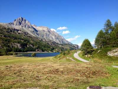 Vita-Parcours at the lake Sils