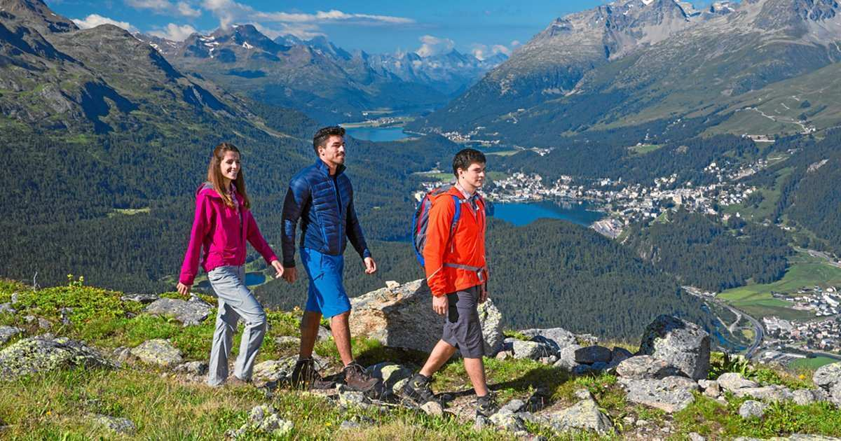 hiking in the Upper Engadin