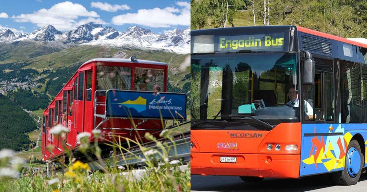 mountain railways and public transport inclusive for guest in the hotel Schweizerhaus